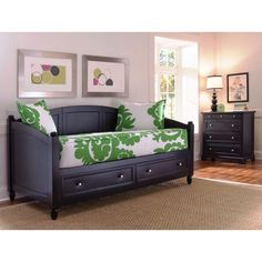 Twin-size Bedford Black DayBed and Chest Set by Home Styles (Bedford Black Daybed & Chest)