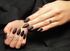 unghie a mandorla manicure nera opaca smalto matte Rings For Men, Nail Art, Men Rings, Nail Arts, Nail Art Designs