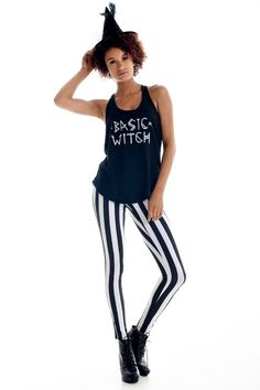 Women's Basic Witch Tank Top & Leggings