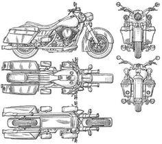 Harley-Davidson 02 imagen para descargar Motorcycle Art, Motorcycle Design, Bike Art, Bike Design, Harley Davidson Images, Blueprint Drawing, Paper Car, Industrial Design Sketch, Modelos 3d