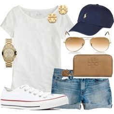 Preppy Casual Summer - Just need shorts that are a bit longer. Beauty And Fashion, Fashion Mode, Look Fashion, Looks Style, Looks Cool, Style Me, Preppy Casual, Moda Casual, Comfy Casual