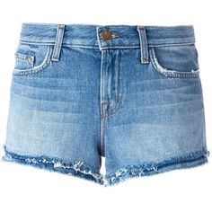 J Brand Sachi denim shorts (560 BRL) ❤ liked on Polyvore featuring shorts, bottoms, marcy selena, blue, denim shorts, short denim shorts, j brand shorts, blue denim shorts and short jean shorts