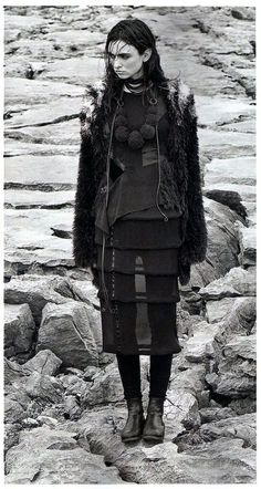Social and Personal Dec12 : Stylist Roxanne Parker, Model Maria Bordman. MONSTER KNIT AW12. Jon Snow, Model, Stylists, Goth, Fictional Characters, Inspiration, Style, Fashion, Jhon Snow