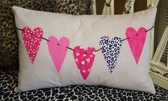 My Valentine pillow.  Inspiration from Amy Smart, Diary of a Quilter blogspot.