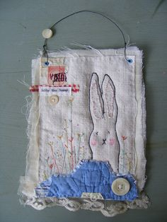 Textile Artwork by my lovely friend Viv....