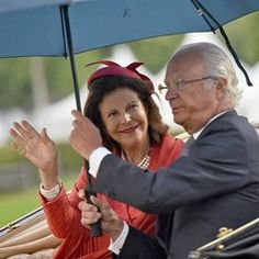 Swedish king and queen at opening of CHIO equestrian event in Aachen