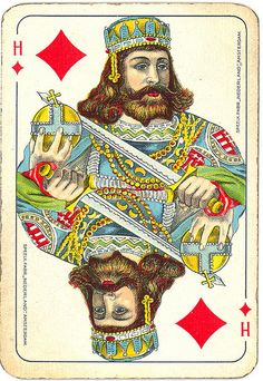 Dutch playing cards from 1920-1927: King of Diamonds | Flickr - Photo Sharing!