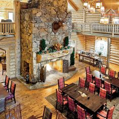 Dancing Bear Lodge & Restaurant - Wade and I just returned from a weekend in the Smoky Mountains - amazing lodge and the food is unparalleled! Cozy Inn, Cozy Cabin, Townsend Tennessee, National Park Lodges, National Parks, Rock Fireplaces, Mountain Vacations, Southern Living, Southern Belle