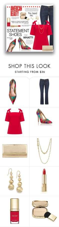 """""""Statement Shoes"""" by gailermels ❤ liked on Polyvore featuring Vivienne Westwood, Manon Baptiste, Jimmy Choo, Marco Bicego, Dolce&Gabbana and Reverie"""