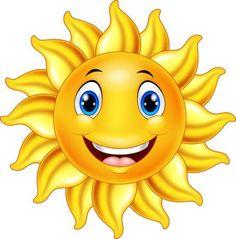 Cute smiling sun cartoon vector image on VectorStock Cartoon Sun, Cartoon Monkey, Cartoon Dinosaur, Happy Cartoon, Cartoon Faces, Cute Cartoon, Cartoon Angel Wings, Ios Emoji, Emoticon Faces