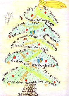 Caligrama: El árbol de Navidad
