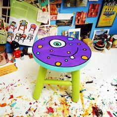 Banquetas monster stool. Uma banqueta para os pequeninos. www.juamora.com ateliejuamora@gmail.com #stool #banqueta #juamora #monster
