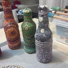 bottles Polymer Clay, Bottles, Home Decor, Decoration Home, Room Decor, Interior Design, Home Interiors, Modeling Dough, Interior Decorating