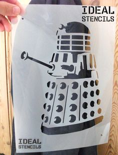 dalek art stencil - paint daleks with ideal stencils - http://www.ebay.co.uk/itm/Dalek-Stencil-Dr-Who-single-layer-Art-Craft-Decor-Paint-Reusable-Ideal-Stencils-/151745180505