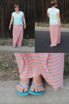 this is the easiest maxi skirt ever! make a wrap maxi skirt in about half an hour with this tutorial. itsalwaysautumn.com
