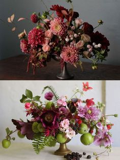 Ooooh, look at the colors in the top arrangement. Could be a great bouquet.