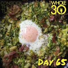 """I put those Brussels to good use in this delicious egg nest with garlic, prosciutto and a drizzle of lemon pepper infused olive oil. So good!  #whole30 #whole100 #CTLTwhole100 #whole30homies #2015IGwhole30 #eatrealfood #cleaneating #jerf #healthy #mealideas #paleo #recipe #blog #considertheleafTURNED #day65"" Photo taken by @considertheleafturned on Instagram, pinned via the InstaPin iOS App! http://www.instapinapp.com (03/03/2015)"