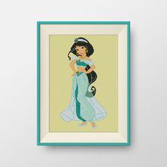 Jasmine cross stitch pattern, BOGO, Instant Download, Disney Princesses cross stitch pattern, P088