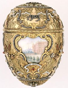 Peter the Great Egg  Date	1903  Presented by Nicholas II to Czarina Alexandra Fyodorovna