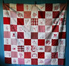 @Nova Flitter love the Redwork Project quilt: red squares with embroidered squares in between!