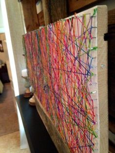 String art, family art project | We are THAT family... This would be a great community project, too