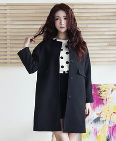 Today's Hot Pick :Basic Collarless Long Coat JY-14536 http://fashionstylep.com/SFSELFAA0000800/elyscoen/out HelloElys is trendy women's clothing shop from Seoul, Korea which is the hottest fashion spot in Asia just now. We offer a fine selection of romantic and lovely outerwear, tops, and bottoms, etc. for your daily wardrobe with decent pricing and high quality you can trust. ( Model Size - Height: 170cm, Weight: 48kg, Top: S, Bottom: 24inch )