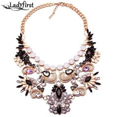 New Arrival za Brand Big Luxury Statement Pendant& Necklace Vintage Maxi Women Accessories Chain Collar Women B5211