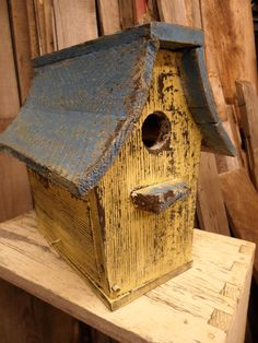 shabby barnwood birdhouse
