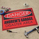 Personalized Custom Floor Mat - Danger Design - 9934 $22.95