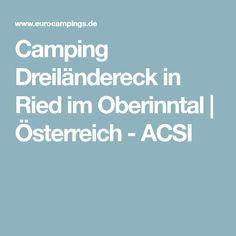 Camping Dreiländereck in Ried im Oberinntal | Österreich - ACSI