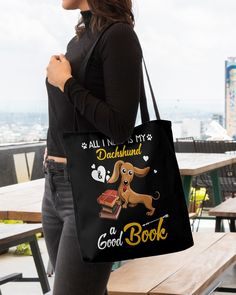All I Need Is My Dachshund Dog A Good Book Mugs - Black winnie dog dachshund, dachshund halloween, i want a puppy #dogs #petco #minidachshund, dried orange slices, yule decorations, scandinavian christmas Dachshund Tattoo, Dachshund Quotes, Cat Quotes, Animal Quotes, Black Dachshund, Funny Dachshund, Mini Dachshund, Winnie Dogs, Funny Costumes