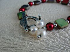 Christmas Red and Green Glass Girl's or Small by BeautifulStrands, $25.00