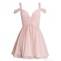 Homecoming dresses ❤ liked on Polyvore featuring dresses, prom dresses, pink prom dresses, short bridesmaid dresses, short pink dress and chiffon bridesmaid dresses