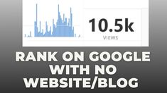 How to rank on google without a website #shorts