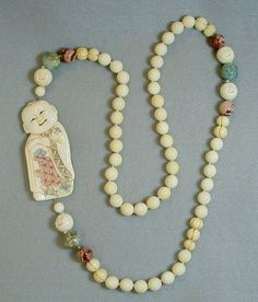 Pre Ban Ivory Buddha antique necklace www.svpply.com