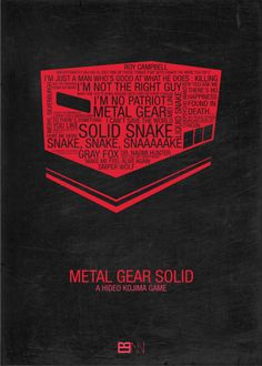 Cool minimal Metal Gear Solid fan made poster.