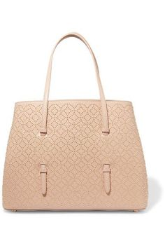 ALAÏA Arabesque medium embellished leather tote. #alaïa #bags #leather #hand bags #tote #