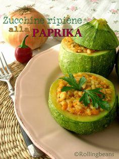 Rollingbeans Zucchine ripiene alla paprika Vegan, Gluten free