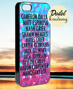 magcon boys members iPhone 4/4s/5/5c/5s Case by DODOLKRUDUNG, $14.00