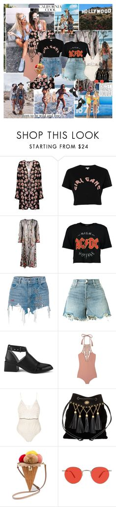 """""""Remember how we used to party up all night sneaking out and looking for a taste of real life drinking in the small town firelight..."""" by thisiswhoireallyam7 ❤ liked on Polyvore featuring Boohoo, River Island, Alexander Wang, J Brand, Senso, N°21, Acacia Swimwear, Flook, Miu Miu and Dolce&Gabbana"""