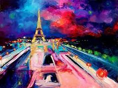eiffel tower paintings canvas - Google Search