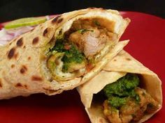 Chicken Kathi Rolls (Chicken Frankies)