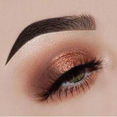 Gold Eye Makeup, Fall Makeup, Skin Makeup, Beauty Makeup, Makeup Style, Makeup Brushes, Cute Makeup, Gorgeous Makeup, Perfect Makeup