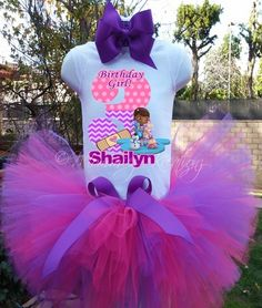 doc mcstuffins tutu set,doc mcstuffins tutu,dos mcstuffin birthday shi | Mommiez_Kreationz - Clothing on ArtFire