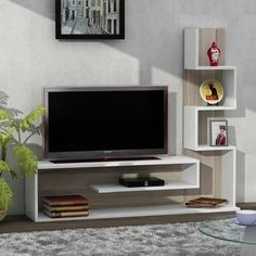 Chic and Modern TV wall mount ideas. Here are 15 best TV wall mount ideas for any place including your living room. Tv Unit Decor, Tv Wall Decor, Tv Unit Furniture, Furniture Design, Furniture Plans, Modern Furniture, Tv Wanddekor, Living Room Tv Unit Designs, Modern Tv Wall Units