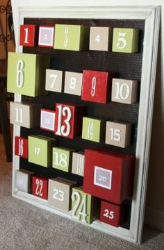 Holiday Traditions: love this advent calendar to put treats and fun activities to do each day.