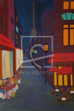 Cafe in Paris as a canvas print 11408966 Paris Cafe, Canvas Prints, Fine Art, Painting, Drawing Pictures, Floral Chair, Print To Canvas, Parisian Cafe, Photo Canvas Prints