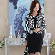 Women's V Neck Korean Style Long Sleeve Dress – USD $ 31.79