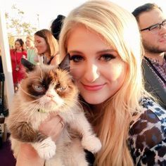 Meghan Trainor Cat | Your Fave Celebs Snap the Best Selfies With the One and Only Grumpy ...