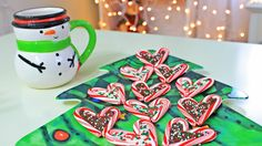 DIY Christmas Treats - Candy Cane Hearts @esmiee11